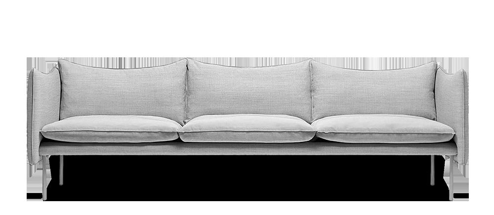 Tiki soffa_linnekladsel