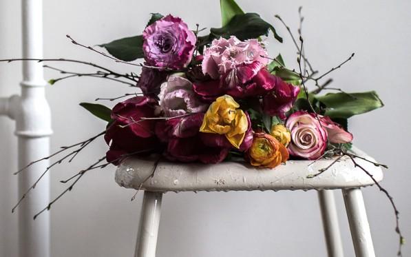 Blommor med bud...