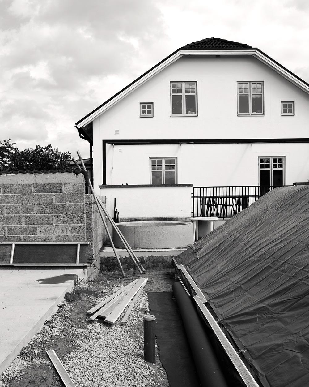 Daniellas trädgård - Poolbygge_varmbad